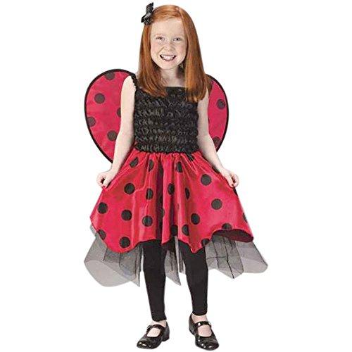 [Ladybug Dress Child's Costume (Size: Large 8-10)] (Girls Bug Costumes)