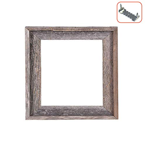 BarnwoodUSA Rustic Farmhouse Open Signature Picture Frame - Our 8x8 Open Picture Frame can be used DIY projects | Crafted From 100% Recycled Reclaimed Wood | No Assembly Required