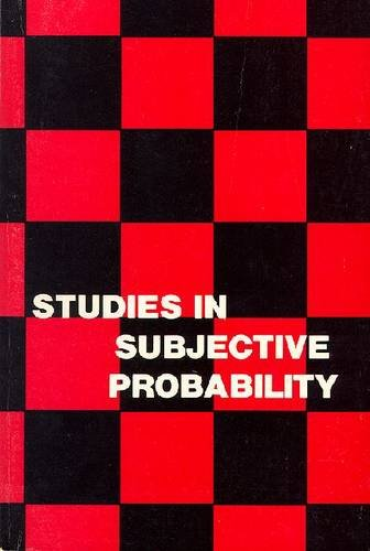 Studies in Subjective Probability, Kyburg, Henry