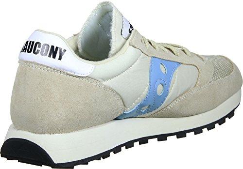Saucony Beige/Sky Blu Jazz Original Vintage Sneaker Beige
