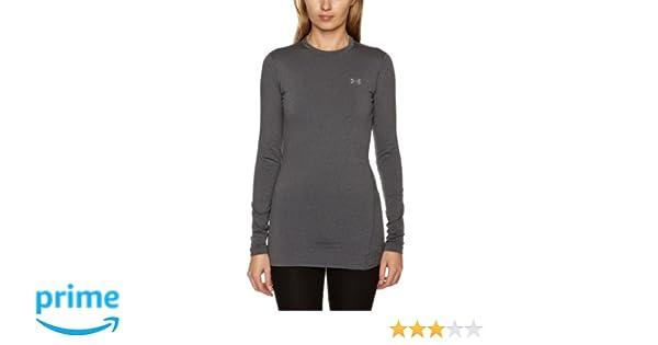 Under Armour ColdGear - Camiseta térmica interior para mujer, color negro gris gris Talla:large: Amazon.es: Ropa y accesorios