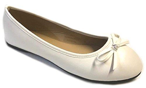 Shoes8teen Sko 18 Nye Kvinners Ballerina Ballett Leiligheter Sko Leopard Og Faste Stoffer 14 Farger Hvit
