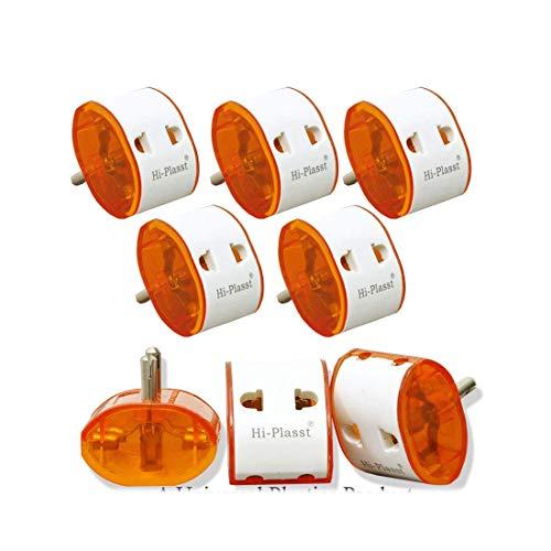 Hi PLASST 2 PIN Universal Travel MULTIPLUG Worldwide ADAPTOR 5pcs/10pcs Plug Two Pin Plug  White   5