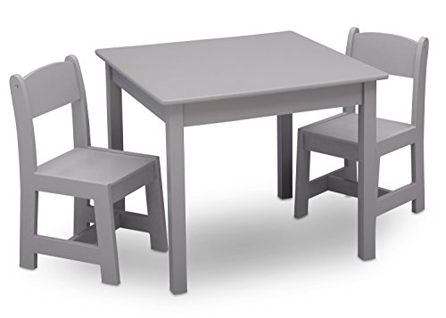Delta Children MySize Kids Wood Chair Set and Table (2 Chairs Included), ()