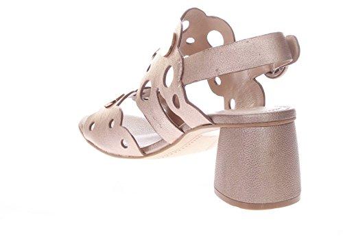 Bruno Premi Donna Sandali Tacco R0902B Sandalo Due Fasce Laminato Rame