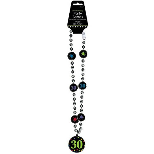 (30th Birthday Party Medallion Bead Necklace)