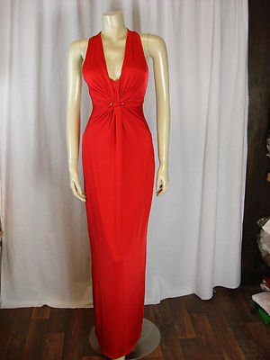 Jane Norman Red Slinky Maxi Dress Size 10: Amazon.co.uk: Clothing