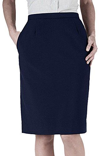 - Ed Garments Women's Waistband Straight Skirt, DARK NAVY, 14 R