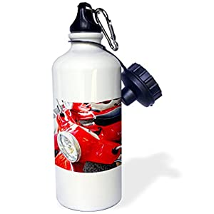 3dRose wb_82173_1 Italy, Tuscany, Radda Vespa Scooter-Eu16 Rdu0243-Richard Duval Sports Water Bottle, 21 oz, White