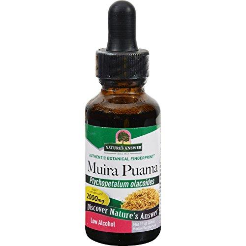 Root Puama Muira (Muira-Puama Root Extract Nature's Answer 1 oz Liquid)