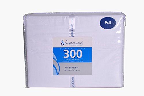 Egyptian Cotton 300 Thread Count Twin XL 3-Piece Sheet Set, Deep Pocket,...