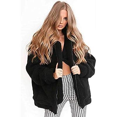 Comeon Women's Faux Fur Jacket Shaggy Jacket Winter Fleece Coat Outwear Shaggy Shearling Jacket at Women's Coats Shop