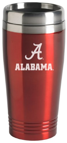 UPC 846911018471, University of Alabama - 16-ounce Travel Mug Tumbler - Crimson