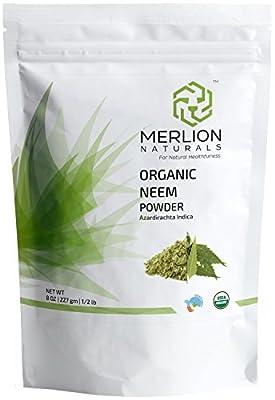 Organic Neem Leaves Powder (Azardirachta Indica) by MERLION NATURALS