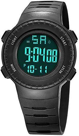 READ Montre Sport Digitale étanche avec Date Automatique Chronographe Alarme Calendrier Multifonction Tracker d'Activité avec rétroéclairage LED