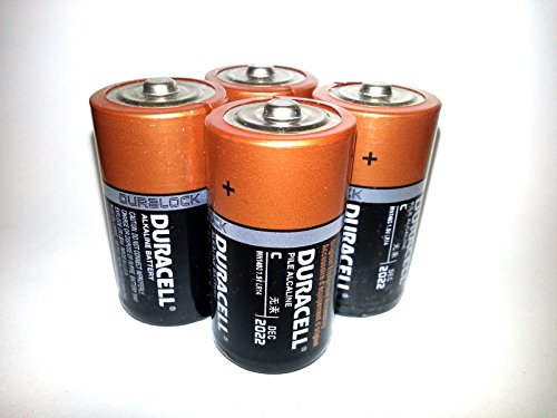 Pack of 100 Duracell MN1400 C Size Duralock Alkaline Battery - Bulk Pack by Duracell