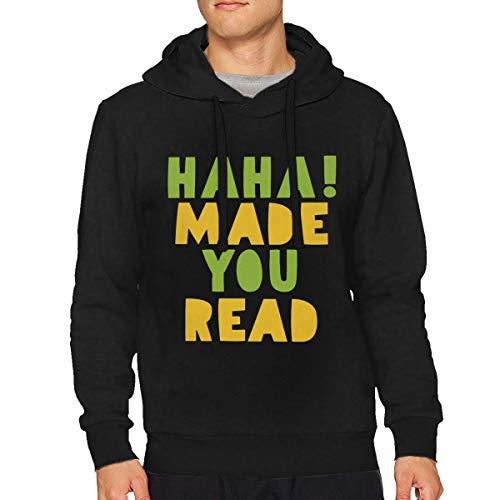 Dddjhsdjdhdfh Men's Haha! Made You Read 3 Fashion Drawstring Sweatshirt XL Black ()