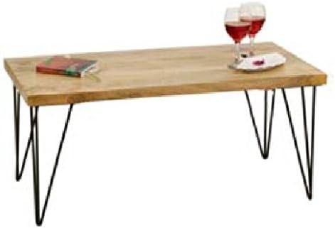 Mesa de Centro Industrial Vintage o mesa baja de café de madera ...