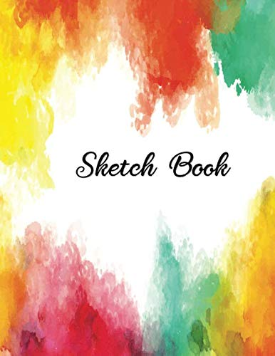 Sketch Book: Notebook for Drawing, Writing, Painting, Sketching, Doodling, 110 Pages, Large 8.5x11 ( Watercolor Cover)