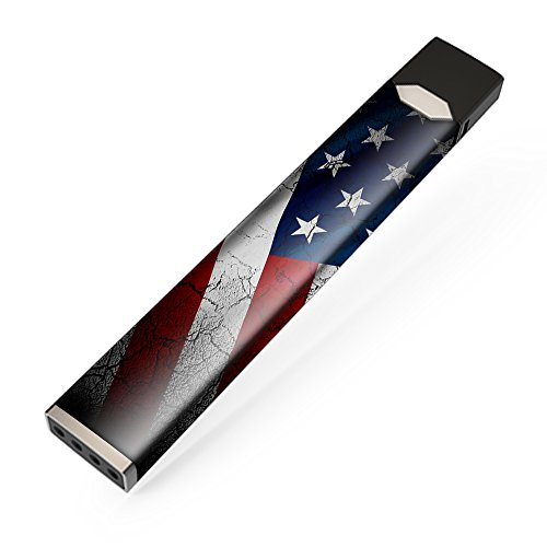 Skin Decal Vinyl Wrap for JUUL Vape stickers skins cover/ American Flag distressed