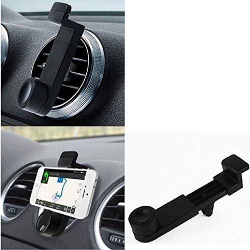 KSTrade Ventilatiebeugel Compatibel Met LG Electronics Stylo 4 Auto Wieg Smartphone Wieg Ventilatierooster Ventilatiesleuven Zwart