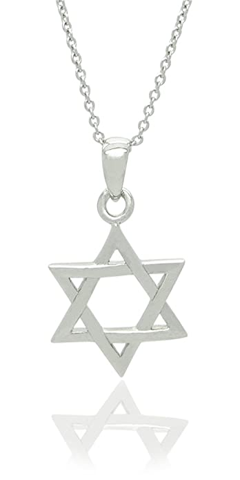 Amazon sterling silver star of david mini pendant necklace 18 sterling silver star of david mini pendant necklace 18quot aloadofball Image collections