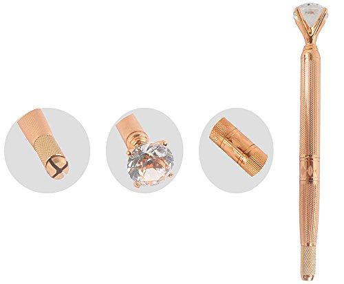 Xiaoyu Big Diamond Microblading Pen Permanent Eyebrow Tattoo Machine Manual Pen - Rose Gold
