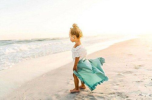 Dzień dobry 2Pcs Baby Girl Ruffle Hemlines Dress Skirt Shorts Pants Party Beach Summer Outfits Sundress