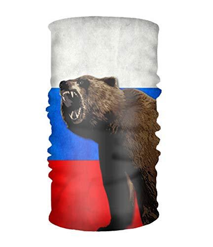 efyh Multifunctional Headwear Yoga Sports Stretchable Headband Bear Russian Flag Bandana Scarf (Best Russian Soccer Team)