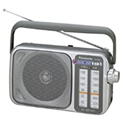 Panasonic Rf-2400d Amfm Radio, Silver