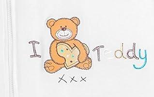 Slumbersac para todo el a/ño, con pies, 2.5 tog, disponible en 4 tallas beige crema Talla:3-4 a/ños Saco de dormir de bamb/ú con dise/ño de oso de peluche para beb/é