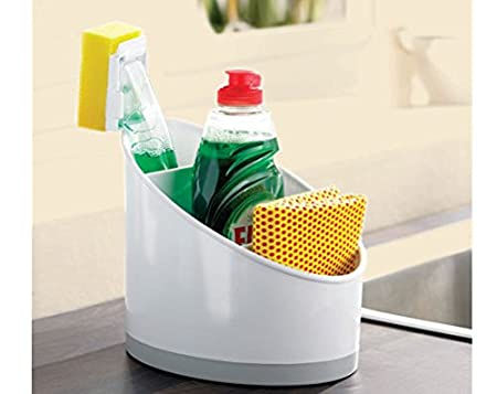 Kitchen Sink Tidy / Caddy in White - An Ideal Organiser for Your ...