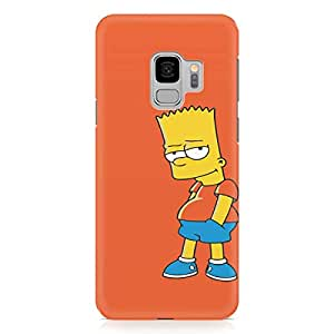 Loud Universe Bart Simpson Samsung S9 Case The Simpsons Samsung S9 Cover with 3d Wrap around Edges