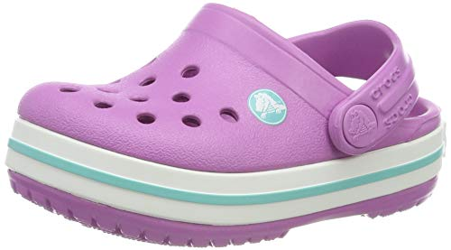 (Crocs Kids' Crocband Clog,Violet/Pool,10 M US Toddler)