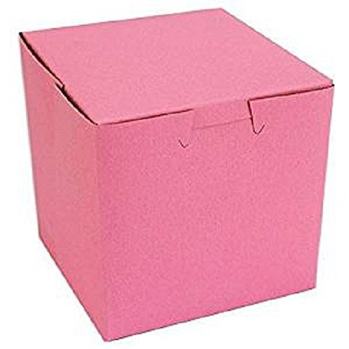 Pink Bakery Single Cupcake Box 4 X 4 X 4 inch (30) Made in -