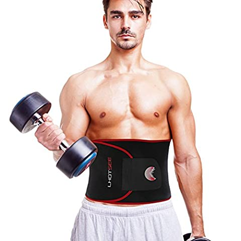 LHOTSEE Waist Trimmer Ab Belt, Weight Loss Waist Trainer- Best Abs accessories for Lower Back Support, Stomach and Back Lumbar (Breathable Waist Trimmer)