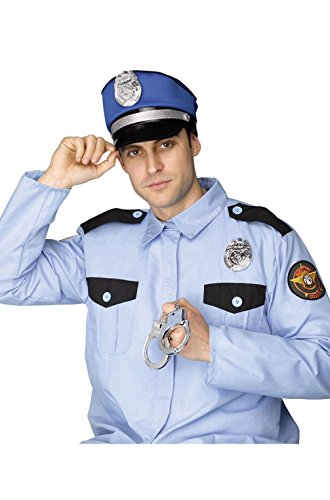 [Mememall Fashion Policeman Officer Cop Instant Costume Kit] (1940s Cop Costume)