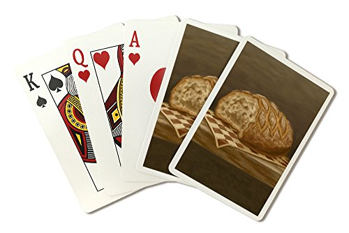 French Country Bread - Oil Painting (Playing Card Deck - 52 Card Poker Size with Jokers)