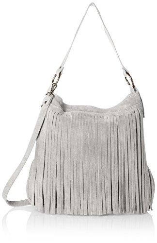 Bags4Less Mujer Tipi Bolso de bandolera, 20x35x38 cm gris claro
