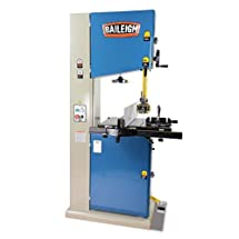 "Baileigh WBS-18 Industrial Wood Working Vertical Bandsaw, Single Phase, 220V, 20"" x 24"" Table Size, 3 hp, 18"""
