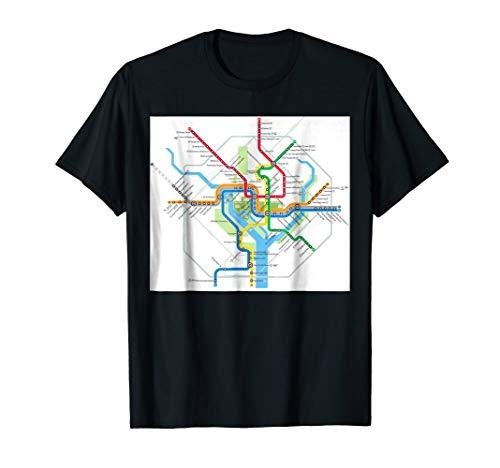 Washington, DC subway map - USA - T-shirt