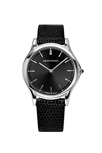 Emporio-Armani-Swiss-Made-Mens-Quartz-Stainless-Steel-and-Leather-Dress-Watch-ColorBlack-Model-ARS2001