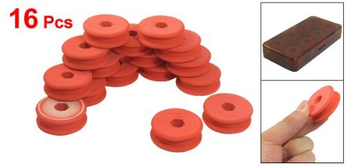 16 Pcs pastèque rouge ligne de pêche éponge Spool w étui de rangement en plastique