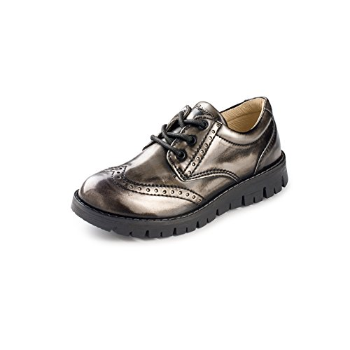 Primig Primigi Shoes Kids Lace Up SI. Abrasiv. (26 M US, Silver/Grey) by Primig