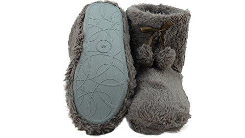 brandsseller - Zapatillas de estar por casa de Material Sintético para mujer Beige - Taupe (Hellbraun)