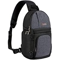 MOSISO Camera Bag, Water Repellent Shockproof Sling...