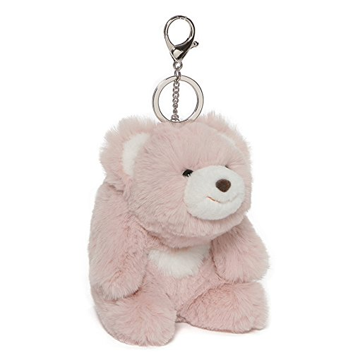 GUND Snuffles Teddy Bear Stuffed Plush Keychain, Rose Pink, 5