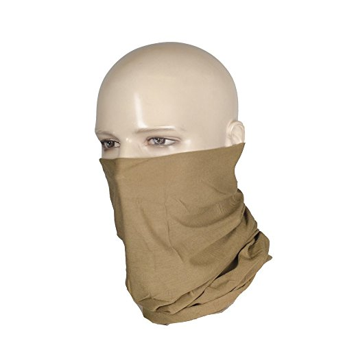 Set of 2 Motorcycle Mask half face shield bandanas for dust headband tube (Brown)