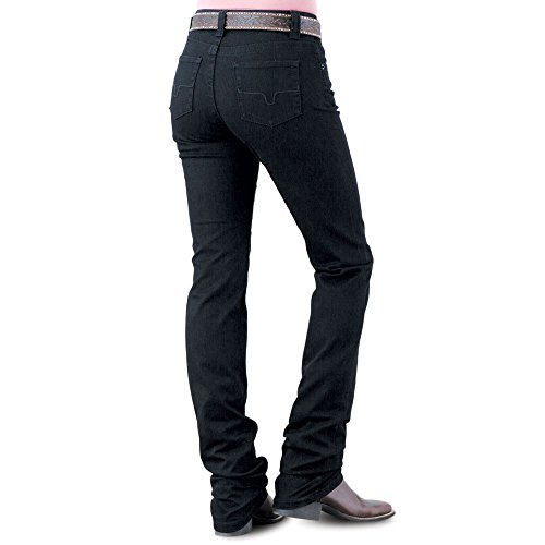Kimes Ranch Women's Betty Modest Boot Cut Jeans Black 6W x 34L