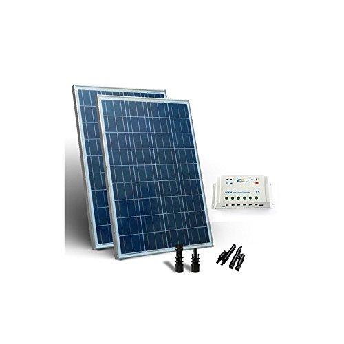 Solar Kit base 400W 12/24V Placa Solar Regulador de Carga 30A-PWM ...
